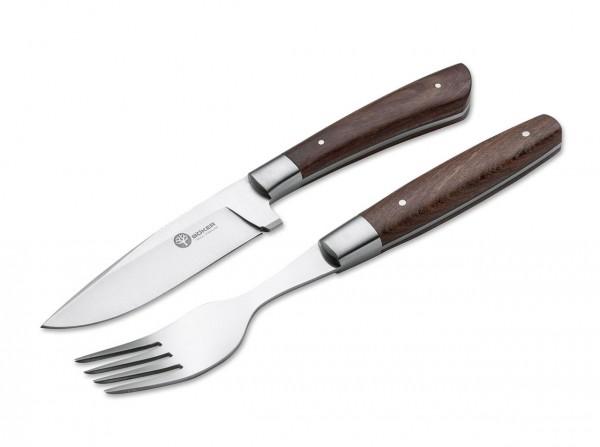 Steakmesser, Braun, Feststehend, Guayacan-Ebenholz